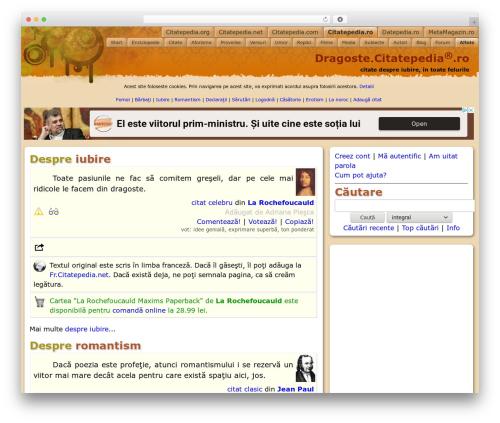 Theme WordPress HoPE - dragoste.citatepedia.ro