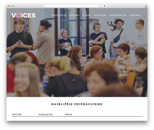 VenueX WordPress theme - voices.sk