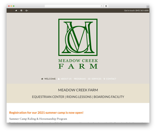 WordPress template HorseClub - meadowcreekfarm.co