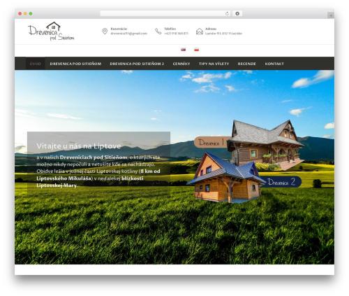 WordPress template Hotella - drevenicapodsitienom.sk