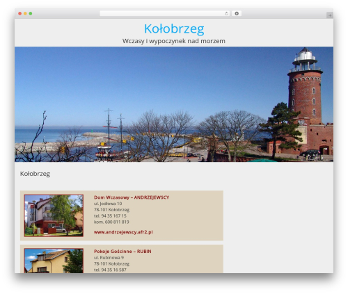 WordPress theme BlueGray - kolobrzeg.afr2.pl