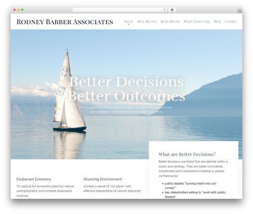 WordPress theme (VamTam) Consulting - barberassociates.org