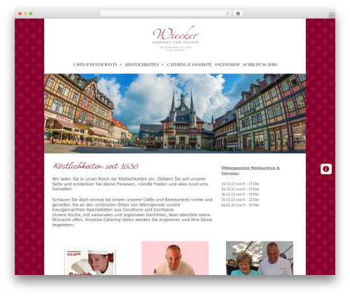 WordPress megamenu-pro plugin - cafe-wiecker.de
