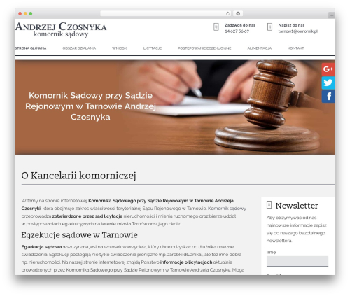 WordPress website template CS GROUP 2016 - tarnow-komornik.pl
