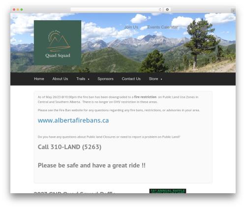 WordPress website template OptimizePress - quadsquad.ca
