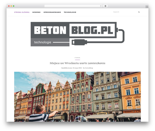 Activello template WordPress free - betonblog.pl