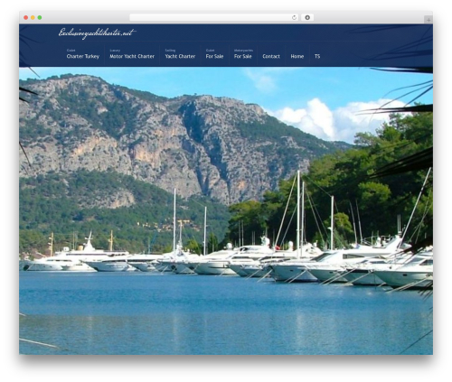 Best WordPress template Active Trinity - exclusiveyachtcharter.net