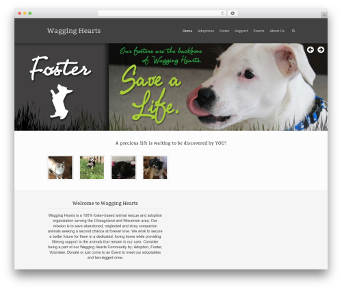 Best WordPress template Rescue - wagginghearts.org