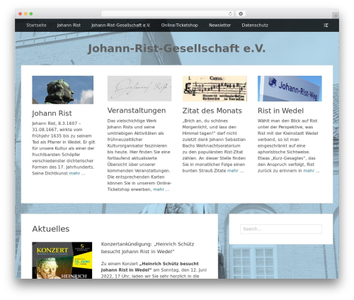 Clean Box free WP theme - johann-rist.de