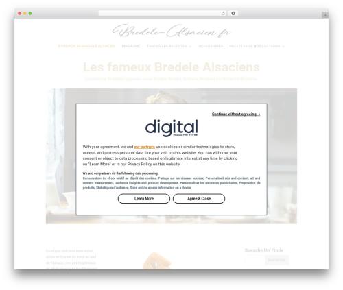 Divi WordPress theme - bredele-alsacien.fr