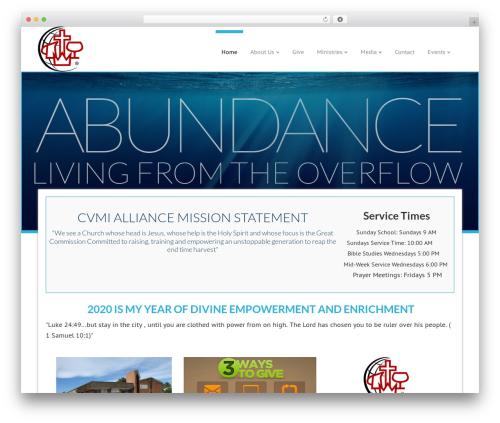 WordPress ezchurch plugin - cvmi.church