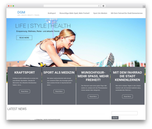 Healing Touch WordPress theme - dgm-nrw.de