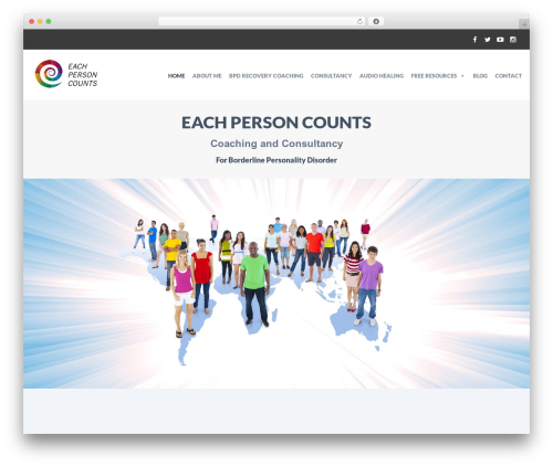 HelpingHands WordPress page template - eachpersoncounts.org