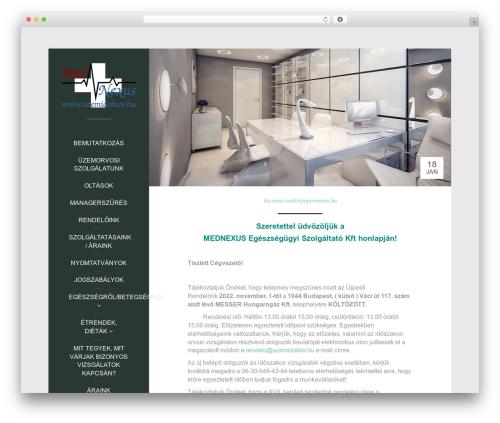 Impronta free WordPress theme - uzemidoktor.hu