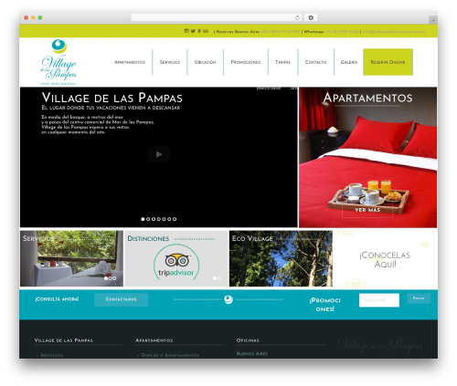 Jupiter WordPress hotel theme - villagedelaspampas.com.ar