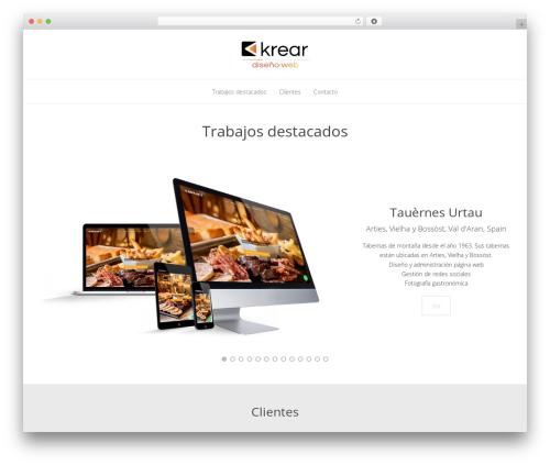Kocka WordPress theme design - krear.net