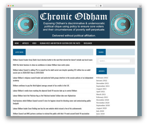 MH Newsdesk lite newspaper WordPress theme - chronic-oldham.co.uk