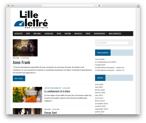 MH Newsdesk lite WordPress news theme - lillelettre.fr