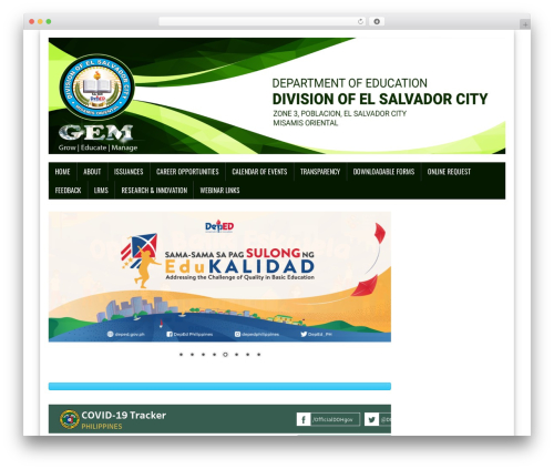 MH Newsdesk lite WordPress news theme - depedelsalvadorcity.net