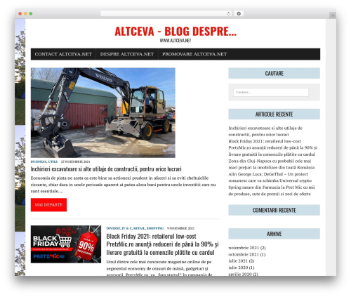 MH Newsdesk lite WordPress news theme - altceva.net