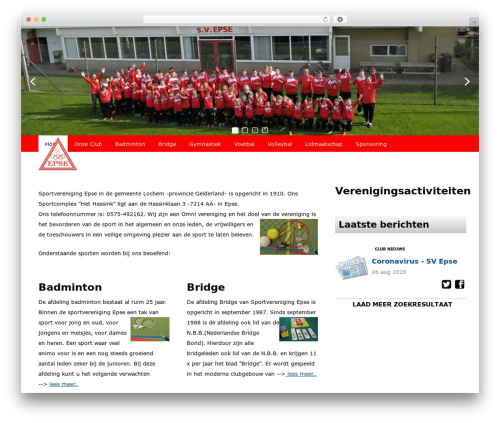 Redesign Sportlinkclubsites WP theme - svepse.nl