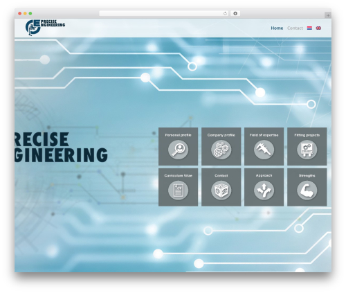 The7 theme WordPress - precise.engineering