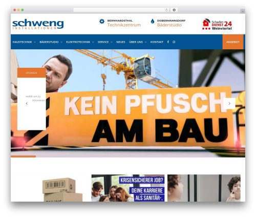 TheBuilt template WordPress - schweng.at