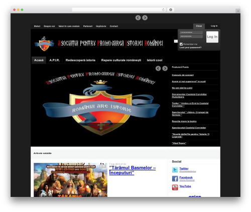 Theme WordPress Magazinum - romaniaistorica.ro