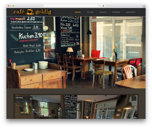 Theme WordPress X - cafegoldig.de