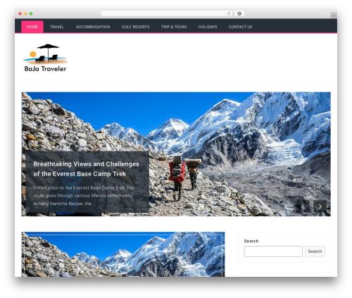 Travelers WordPress free download - bajatraveler.net