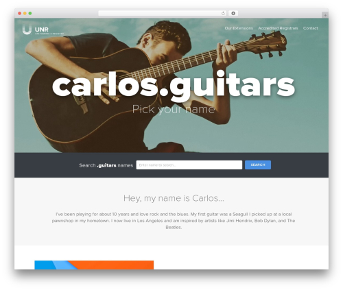 Uniregistry WordPress theme - carlos.guitars