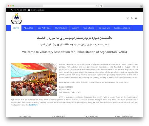 WordPress theme Impreza (Share On Theme123.Net) - varaafg.org