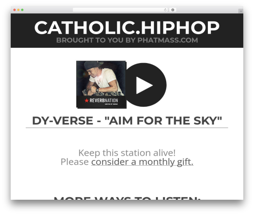 WordPress theme Touch - catholic.hiphop