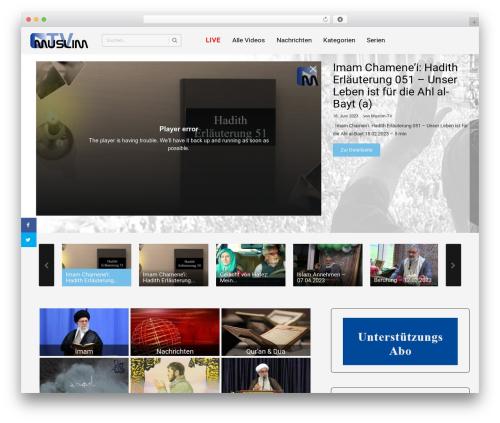 WordPress theme truemag - muslim-tv.de