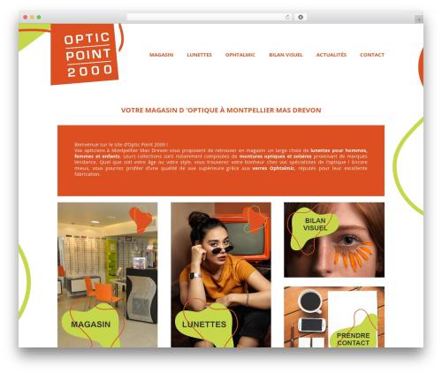 WordPress website template Auxane Opticiens - opticpoint2000-montpellier.fr