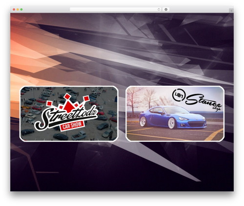 WordPress website template Fusion - streetlodz.pl