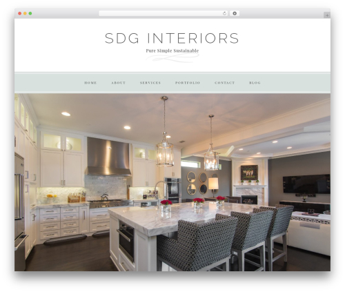 WP template Faithful Theme - sdginterior.design