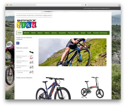 Xing WordPress theme - sportbike.hr