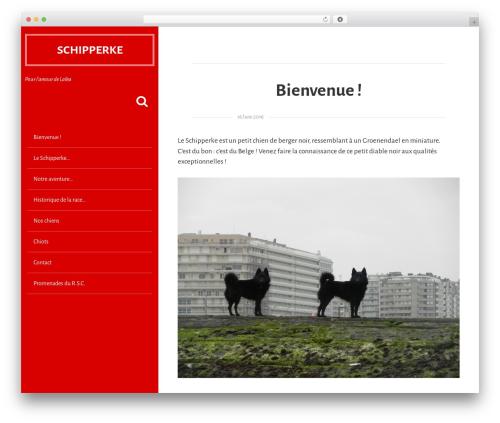 Aesblo WordPress theme design - schipperke.show