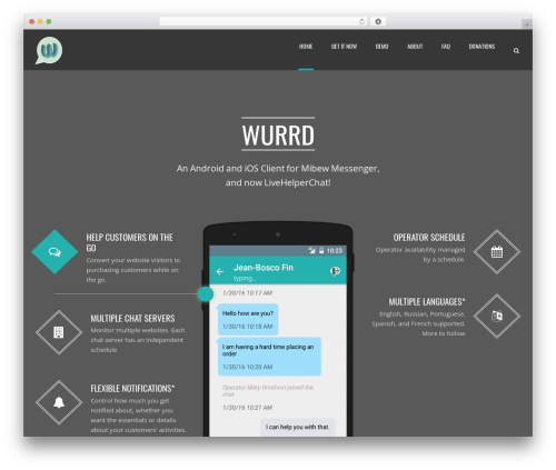 Applay theme WordPress - wurrdapp.com