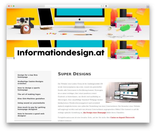 Best WordPress theme Activello - informationdesign.at