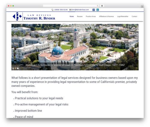 Businessweb Plus WordPress theme free download - tbinderlaw.com