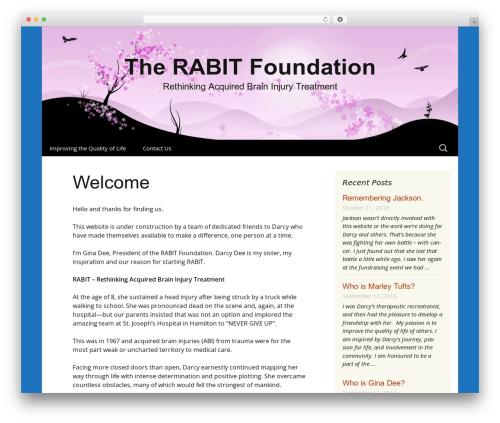 Cherry Blossom WordPress website template - rabitfordarcy.org