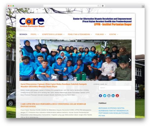 Fresh & Clean WordPress template - care.ipb.ac.id