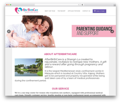 Hotec medical WordPress theme - afterbirth.care