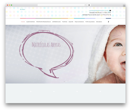Kidslife WordPress website template - bebabyjundiai.com.br