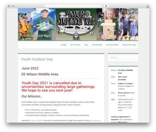 Levii template WordPress free - youthoutdoorday.org