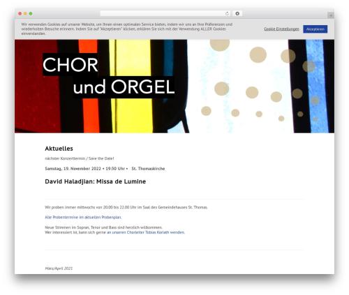 Moonrise WP theme - thomaskantorei.de