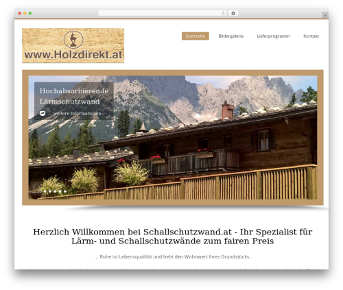 Template WordPress Harrington Pro Responsive Theme - schallschutz-wand.ch