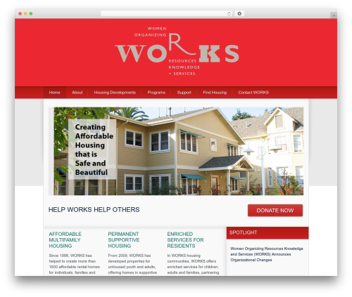 Theme WordPress The Cause Child Theme - worksusa.org